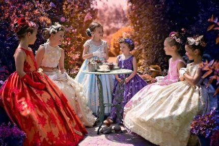 Koffiekransje bij de prinsessen