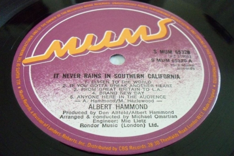 Albert Hammond – It Never Rains in Southern California