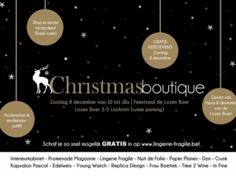Christmasboutique in de Lozen Boer
