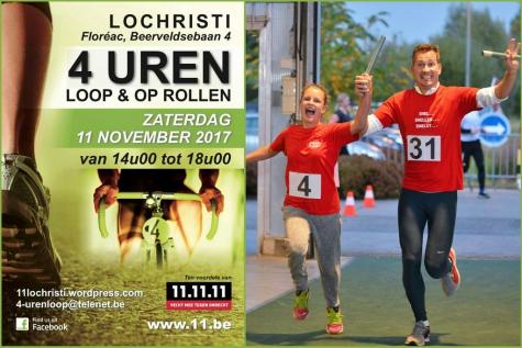 4 urenloop Lochristi 11 november 2017