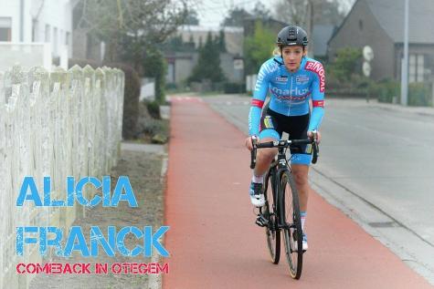 Alicia Franck maakt maandag comeback in Otegem