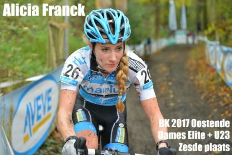Alicia Franck haalt 6de plek op het BK en is 5de in haar categorie