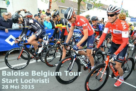 start rit 2 Baloise Tour Lochristi 2015
