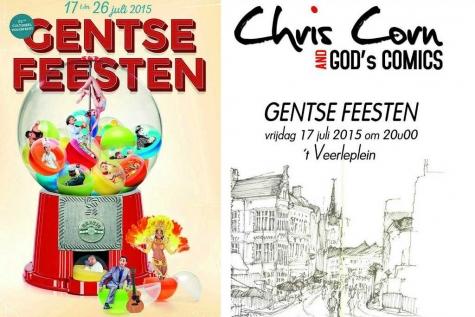 Chris Corn en God's Comics Gentse Feesten 2015