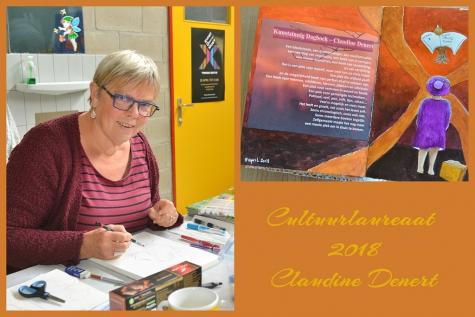 Claudine Denert cultuurlaureaat 2018 Lochristi