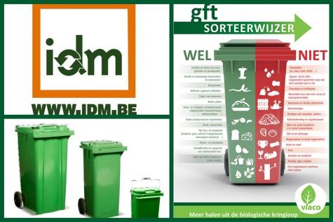 Meer afval groene bak IDM