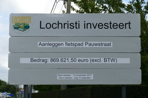 werken Pauwstraat Lochristi