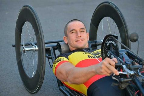 Jonas Van de Steene handbiker Belgisch kampioen