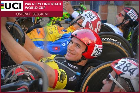 Jonas Van de Steene handbiken Wereldbeker Oostende