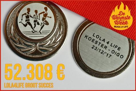 52.308 euro - LoLa4Life bezorgt OIGO en Koester een mooie Kerst