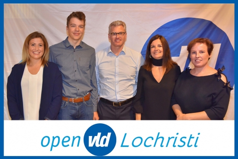 Open VLD lijst volledig Lochristi verkiezingen 2018