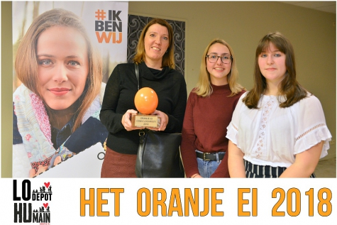 Vzw Humain ontvangt Oranje Ei