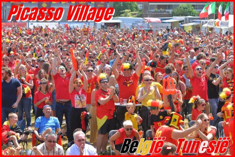 Picasso Village kleurde rood met 2.600 supporters