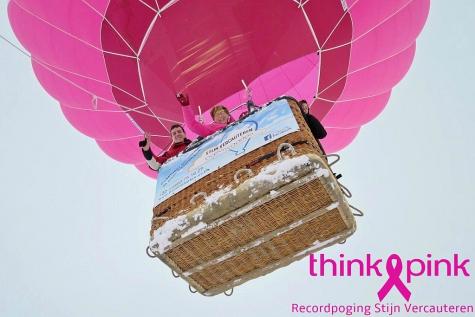 Stijn Vercauteren waagt nieuwe recordpoging met Think Pinkballon