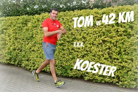 Tom Mestach loopt marathon voor Koester