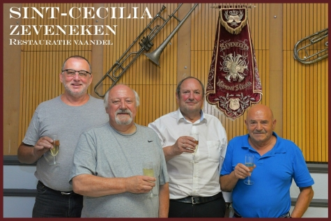 110 jaar oud vaandel Harmonie Sint-Cecilia gerestaureerd