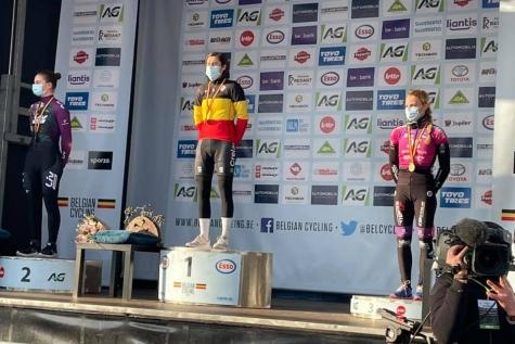Alicia Frank brons kampioenschap veldrijden 2021