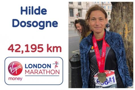 Hilde Dosogne marathon London 2019