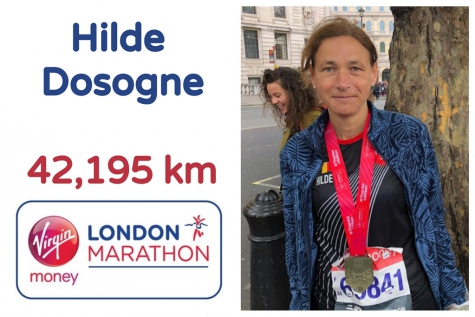 Hilde Dosogne marathon London 2019