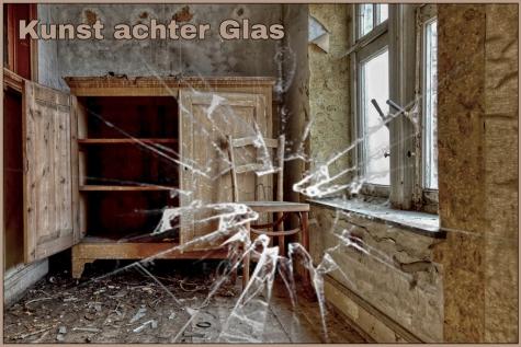 Kunst achter glas - aankondiging - © Bennie Vanderpiete