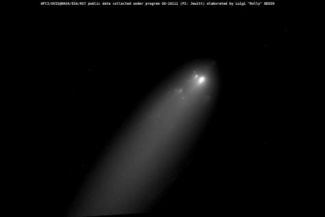 komeet Atlas zw Hubble