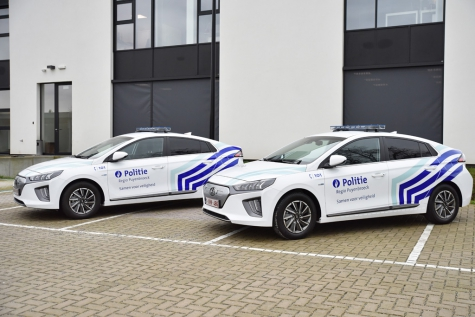 Politie Puyenbroeck Hyundai Ioniq