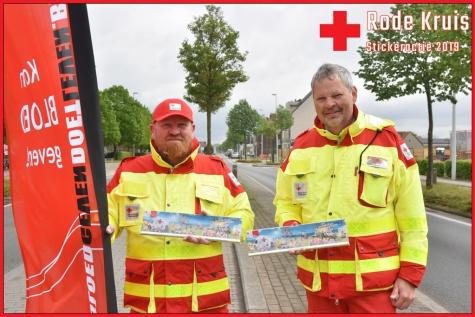 stickeractie Rode Kruis Lochristi