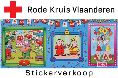 Stickerverkoop Rode Kruis Lochristi © Bennie Vanderpiete