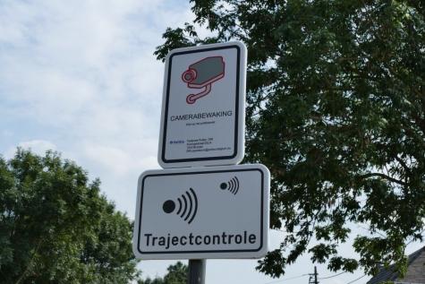trajectcontrole N449 Slagmanstraat Zeveneken