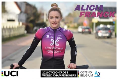 WK Veldrijden Alicia Franck - Titelfoto