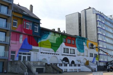 graffitikunst dijk Nieuwpoort