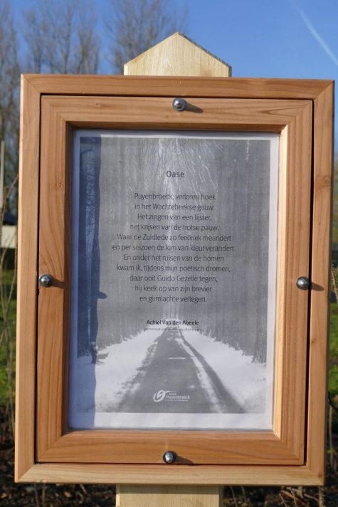 Gedichtenroute Puyenbroeck Wachtebeke 2016