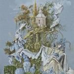 De affiche voor deze Tuindagen werd ontworpen door de Brusselse scenograaf Thierry Bosquet © Park Van Beervelde